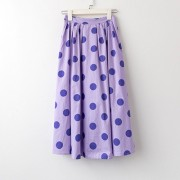 Retro polka dot skirt elasticated high waist a-line skirt - Košulje - kratke - $25.99  ~ 22.32€