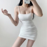 Retro sexy pleated skinny low-cut strapless strapless hip strap dress - Dresses - $27.99  ~ £21.27