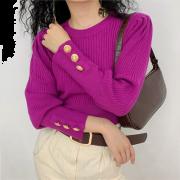 Ribbed Knitwear Women's Turtleneck Long - Puloverji - $28.99  ~ 24.90€