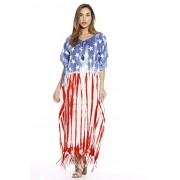 Riviera Sun American Flag Caftan Caftans Swimsuit Cover up - Dresses - $19.99