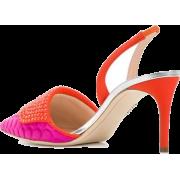 Rodo Pink Purple Slingback Pumps - Classic shoes & Pumps -