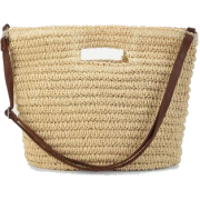 Romwe Straw Shoulder Bag With Handl - Hand bag - $16.99