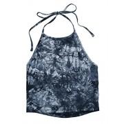 Romwe Women's Casual Tie Dye Sleeveless Vest Halter Cami Tank Top - Top - $7.99