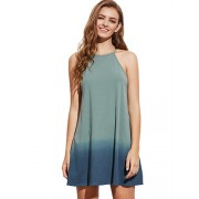 Romwe Women's Tunic Swing T-Shirt Dress Short Sleeve Tie Dye Ombre Dress - Dresses - $22.99
