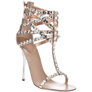 Rose Gold And Diamond Sandals  - Sandals -
