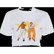 Round neck bottoming shirt printed T-shi - Majice - kratke - $17.99  ~ 114,28kn