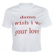 Round neck exposed digital print T-shirt - Košulje - kratke - $19.99  ~ 126,99kn