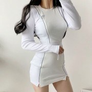 Round neck temperament split fashion cas - Vestiti - $27.99  ~ 24.04€