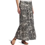 Roxy Juniors Above Deck Maxi Skirt Black Print - Skirts - $39.99