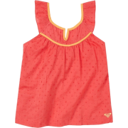 Roxy Kids Girls 2-6X Summer Blues Shirt Bright Coral - Shirts - $26.14