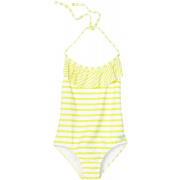 Roxy Kids Girls 2-6X Toddler Ruffle One Piece Set Yellow/White - Swimsuit - $29.56