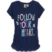 Roxy Kids Girls 7-16 Mystery Girl Applique Top Lapis Blue - Top - $18.43