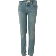 Roxy Skinny Slides Denim Pant - Girls' Palapa Pale Rinse - Pants - $37.13