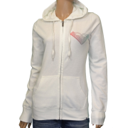 Roxy Women's Vintage Pop Hoodie Sweatshirt-White - Long sleeves shirts - $29.98