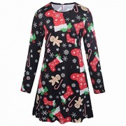 Ruiyige Christmas Dress for Womens Girls S-XXL/3-8 Years Old - Dresses - $19.99  ~ £15.19