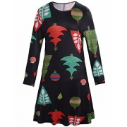 Ruiyige Women Girl Women's Christmas Pullover Flared A Line Dress - Dresses - $8.99  ~ £6.83