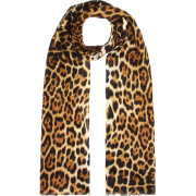 SAINT LAURENT Leopard print silk scarf - Scarf -