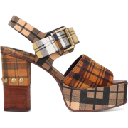 SEE BY CHLOÉ Plaid plateau sandals - Platforms - $395.00
