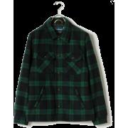 SHANHOUSE×SHIPS GENERAL SUPPLY: メルトンチェック CPOジャケット - Suits - ¥13,300  ~ $118.17