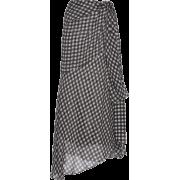 SILVIA TCHERASSI gingham skirt - Skirts -