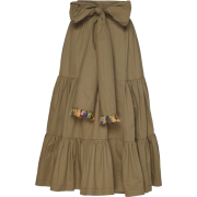 SILVIA TCHERASSI neutral cotton skirt - Skirts -