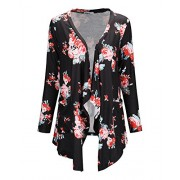 STYLEWORD Women's Long Sleeve Open Front Print Casual Cardigan Sweaters - Shirts - $35.99