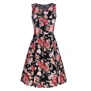 STYLEWORD Women's Sleeveless Summer Casual Floral Dress - Dresses - $35.99