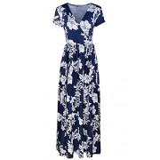 STYLEWORD Women's Summer V Neck Floral Maxi Long Dress - Dresses - $45.99
