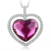 SUE'S SECRET Swarovski Element Necklace Love You Forever Blessed Heart Necklace with Swarovski Crystals, 18 - Necklaces - $44.99