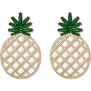 SUGARFIX by BaubleBar Pineapple Earrings - イヤリング - $12.99  ~ ¥1,462