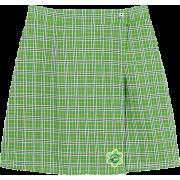 SUNNY DROLL CANDY CHECK SKIRT - Skirts -