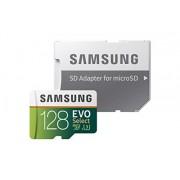 Samsung 128GB 100MB/s (U3) MicroSD EVO Select Memory Card with Adapter (MB-ME128GA/AM) - Accessories - $44.99