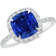 Sapphire Halo Cocktail Ring - Rings - $12,759.00  ~ £9,696.97