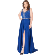 Sapphire blue evening gown - People -