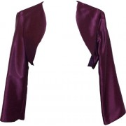 Satin Bolero Jacket Cover-Up Formal Prom Bridesmaid Junior Plus Size - Dresses - $39.99