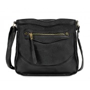 Scarleton Simple Front Zip Crossbody Bag H1956 - Hand bag - $6.99