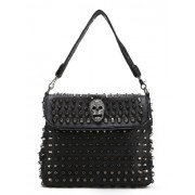 Scarleton Studded Skull Shoulder Bag H1417 - Hand bag - $39.99
