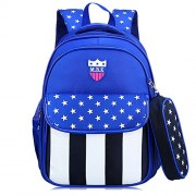 School Backpack Book Bag For Kids Boy Girl Pupil Middle School Student With Pen Bag - Bag - $12.99