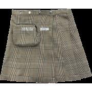 Scottish plaid skirt vintage irregular h - Suknje -