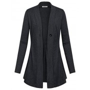 SeSe Code Women's Long Sleeve Draped Open Front Kint Casual Cardigan(FBA) - Shirts - $49.99