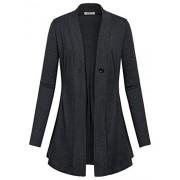 SeSe Code Women's Long Sleeve Draped Open Front Kint Casual Cardigan(FBA) - Camisa - curtas - $49.99  ~ 42.94€