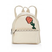 Sequin Rose Patch Faux Leather Backpack - Backpacks - $21.99