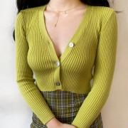 Sexy Deep V-neck Short Long Sleeve Sweat - Veste - $28.99  ~ 24.90€