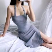 Sexy Halter Knit Bandeau Skinny Dress - 连衣裙 - $26.99  ~ ¥180.84