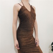 Sexy Metallic Sling Dress - Dresses - $27.99