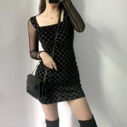 Sexy Shiny Velvet Slim Fit Hip Dress - 连衣裙 - $27.99  ~ ¥187.54