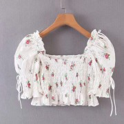 Sexy Short Elastic Pleated Puff Sleeve S - Košulje - kratke - $27.99  ~ 177,81kn