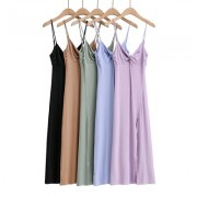 Sexy cross dress slit slim long sling bag hip dress - sukienki - $27.99  ~ 24.04€