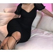 Sexy slim bag hip pleated dress - Dresses - $35.99