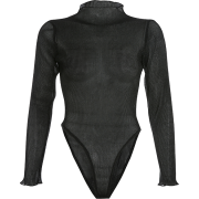 Sexy wild mesh gauze dark-printed perspe - Overall - $25.99
